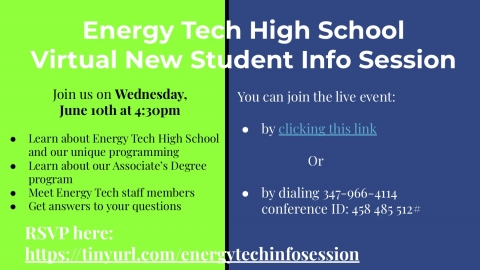 Virtual New Student Info Session
